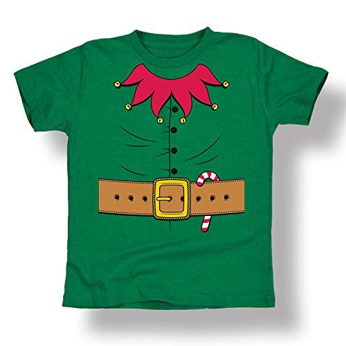 [Christmas Elf Costume Candy Cane Belt Jingle Bells Santa Cool - Toddler T-Shirt] (Cute Elf Costumes For Kids)