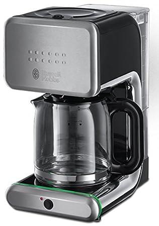 Russell Hobbs 20180-56 Illumina - Cafetera de filtro, jarra de cristal, capacidad de 1,25 l, sistema rociador de agua avanzado