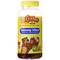 Fórmula de vitaminas y minerales multivitamínico de Lil Critters, botella de 275 unidades