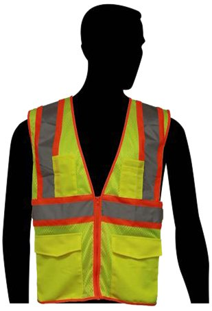 Liberty HiVizGard Polyester All Mesh Class 2 Safety Vest with 2