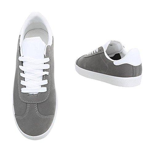 M Top m Grey Sneakers Low amp;Co Dark Women's 8zqr8