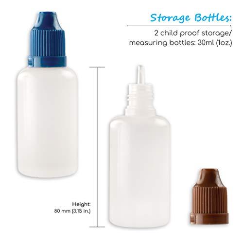 Syringe Blunt Tip Needle Set - (10 Syringes, 10 Needles, 10 Caps and 2 Storage Bottles) - Syringe with Needle for E Juice, Oil, Vape, Adhesives, Greas