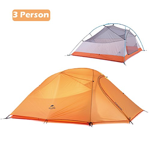 Azarxis 1 2 3 Person Man 3 4 All Season Tents for Camping Backpacking Easy Set Up Waterproof Lightweight Professional Double Layer Aluminum Rod Hiking Hunting