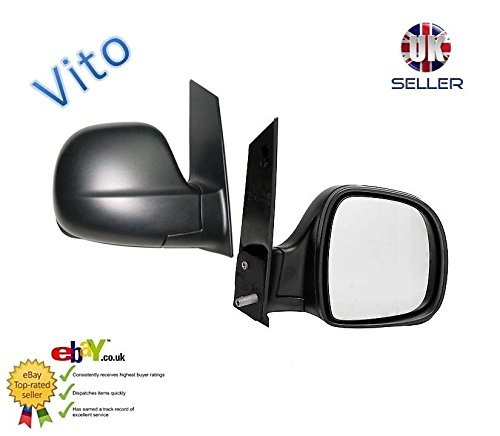 Door Wing Mirror Manual Black O/S Driver Right