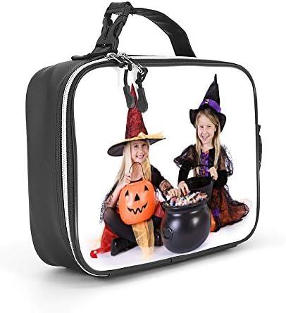 ハロウィーン 女性男性大人の大学の仕事のピクニックのための取り外し可能な革食事パックランチバッグ