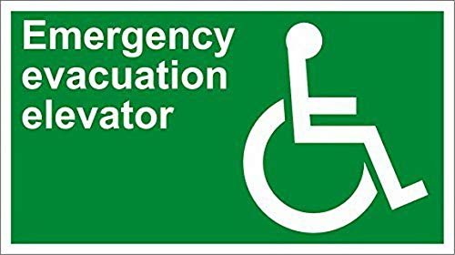 (Ugtell Nostalgic Tin Signs Personalized Metal Signs for Outdoors Emergency Evacuation Elevator Safety OSHA/Ansi Aluminum Metal Sign 12 X 16 Inch Country Home)