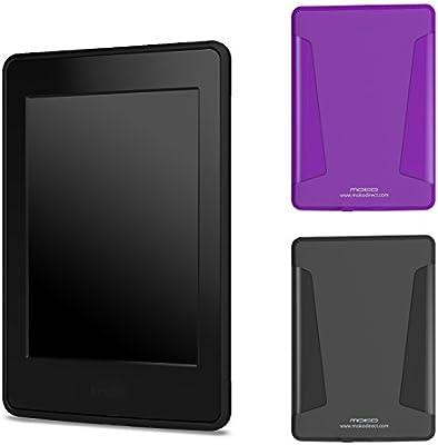 MoKo Kindle Paperwhite Funda, [2-Pack] Soft TPU Skin with Flexible ...