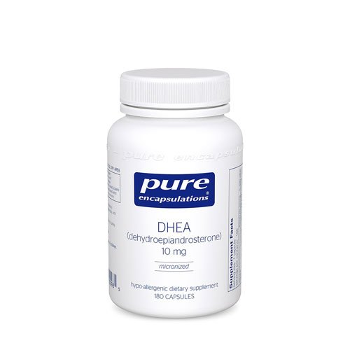 Pure Encapsulations DHEA -- 10 mg - 180 Capsules - 3PC