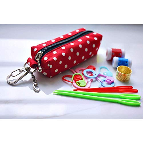 Chaps Custom (Pouch ONLY, ONE of custom stitch marker pouch, chapstick keychain, lip gloss holder, lip balm case keyring)