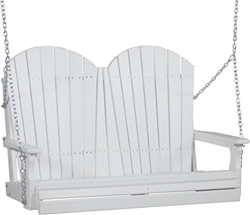 LuxCraft Adirondack 4ft. Recycled Plastic Porch Swing For Sale