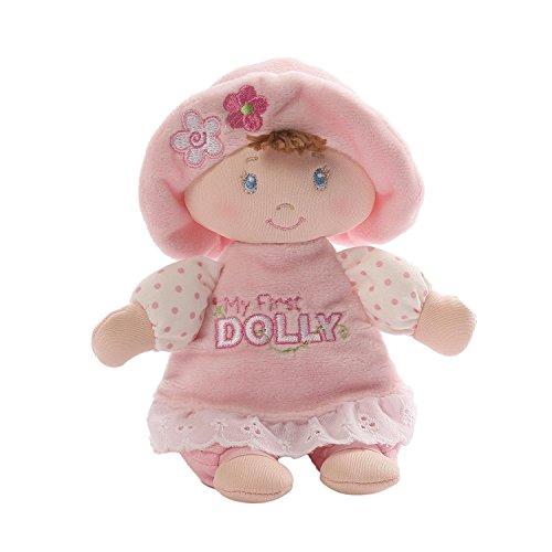 Baby GUND My First Dolly Brunette Stuffed Plush Rattle, 7'' by GUND (Image #2)