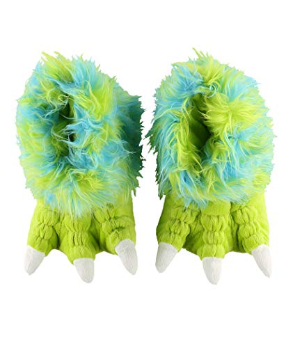 Sully Dress Up (Green Monster Paw Animal Paw Slippers for Kids and Adults by LazyOne | Fun Fuzzy Costume Footwear)