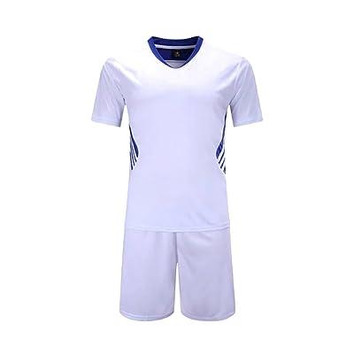 ZEVONDA Boys and Men's Short Sleeve Sportswear Teamwear Training Soccer Uniform Suit