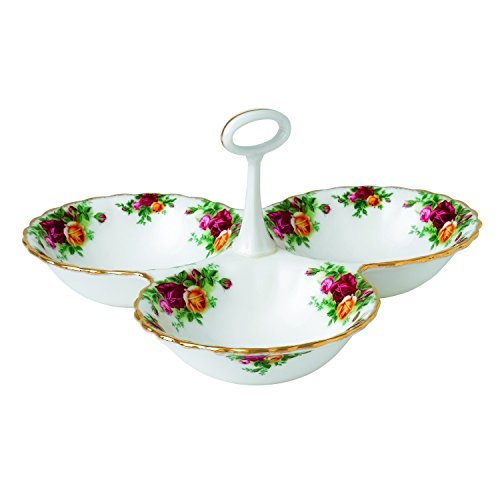 Royal Doulton Old Country Roses Divided Tray, 5.1-Inch, White