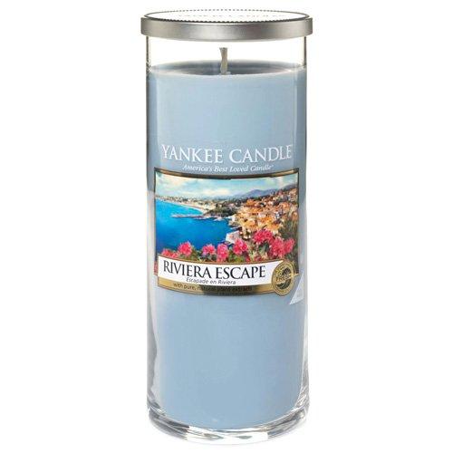 Yankee Candle Riviera Escape 1508622E Candela profumata, Vetro, azzurro, 20 x 8 cm