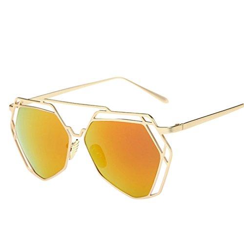 Vue Soleil Lunettes Chat Classique Mode YAANCUN Verres Rouge Metallique De Polarisées Oeil Femme De Sunglasses Lunette De ARqp0