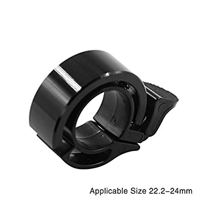 Tanchen Bicycle Bike Bell 22.2mm to 24mm Handlebar Clamp Ring Invisible Seemless Simple