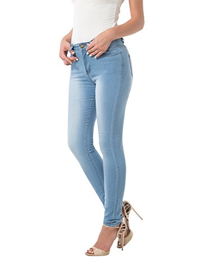 CUNLIN Distressed Skinny Jeans For Women Stretch High Waist Jeans Butt Lifting Denim Pants Leggings Jeggings 2 4 Light Blue S (Women Skinny Wash Jeans Light For)