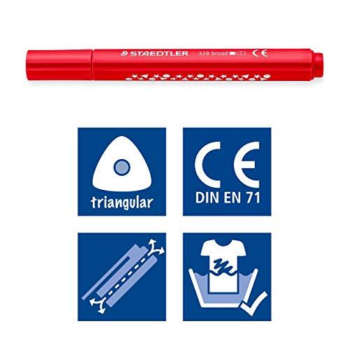 Staedtler 328 - Classpack 144 Triangular Felt-Tip Pens - Wide Nib - 3 mm - Assorted Colours by STAEDTLER (Image #4)