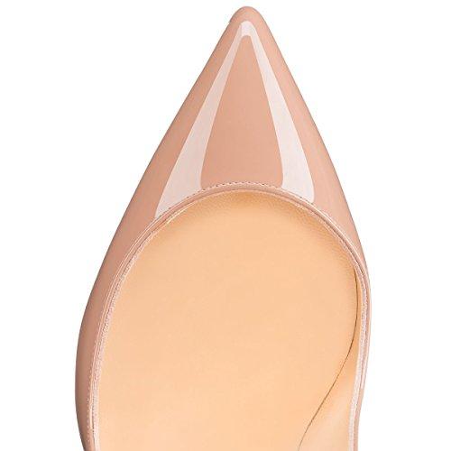 6 Slip Patent Bout Talon on Pan CM CM de Ouvert Pointu Bout Aiguille Femmes EscarpinsTalons Nude Chaussures Pompes Hauts 12 Rouge 10cm Rouge 5CM 10 Semelle Caitlin Bal Semelle x87I4qHwq