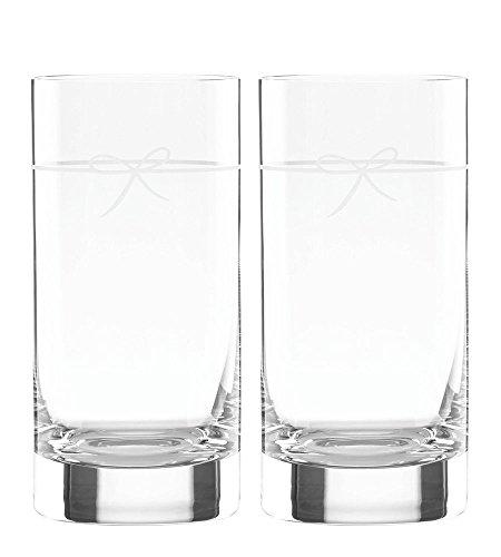 Kate Spade New York Ingram Way 2-Piece Highball Drinking Glasses, 16-Ounces by Kate Spade New York