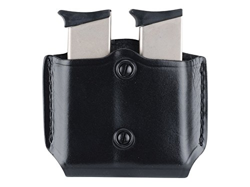 Gould & Goodrich B851-3 Gold Line Double Mag Case With Belt Loops (Black) Fits BERETTA 84, 9mm, .40 (all); COLT 9mm, .40, 10mm, .45 (all); H&K P2000, P2000SK, P30; KIMBER all except Polymer; SIG 9mm, .357, .40, .45 (all), 250 COMPACT 9MM, 40, .357; RUGER 9 mm, .40, .45 (all); SW M&P COMPACT 9MM, .357, .40, SW M&P 9MM, .40, .357, all except Sigma; SPRINGFIELD XD 3, XD 4, XD Tactical; TAURUS 24/7; WILSON SENTINEL ULTRA COMPACT, CQB COMPACT, STEALTH, TACTICAL, CQB, PROTECTOR, TACTICAL, ELITE. ()