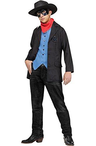 Lone Ranger Costume For Kids - Wild West Avenger Kids Costume - Child Large