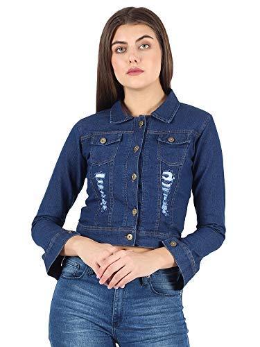41roS2pLj0L KING-DENIM Shree Kmt Enterprises Full Sleeves Comfort Fit Regular Collar Blue Jacket for Women…