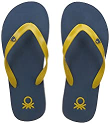 6b7536a88 United Colors of Benetton Men s Core SS 15 Yellow and Blue Flip-Flops and  House