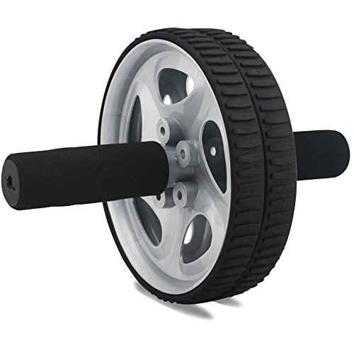 Ab Wheel Roller,For Full Body Exercise, strengthen & tone abs, shoulders, arms, and back Comfortable plastic grips. Effectively develop & strengthen the stomach area