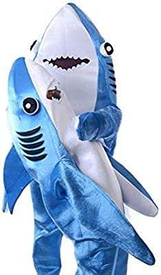 Dastrues Moderno Adulto Infantil Mono Cosplay Traje Tiburón Stage ...