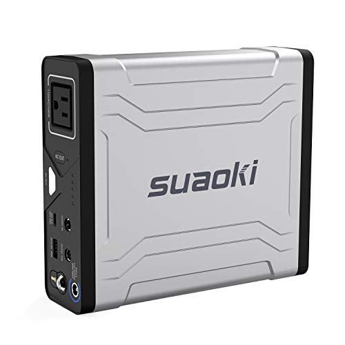 SUAOKI G100 27000mAh /3.7V Power Bank Station 100W AC, Type-C Quick Charge 3.0 USB, Solar Rechargeable Portable Power Generator for Travel Outdoor Use for MacBook Smartphone Camera