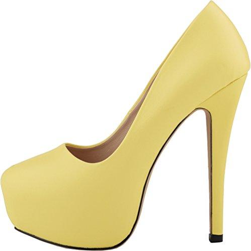 CFP , Damen Plateau , gelb - gelb - Größe: 41