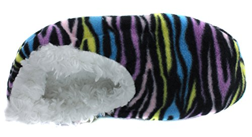 Trufit Womens Djurtryck Sherpa Fleece Fodrade Tossor Färg Zebra