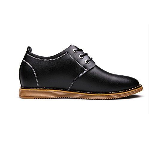 uomo da uomo invisibili uomo tendenza pelle casual in cravatta WFL tendenza da Nero da scarpe scarpe Nuove wqFg7g