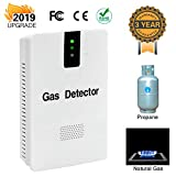 Gas Detector, Gas Alarm with Digital Display Gas Sensor for High Sensitivity, Plug-in LPG Detector Propane Methane Detector for Home/Kitchen
