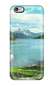 Tpu Case Cover For Iphone 6 Plus Strong Protect Case - Mountain And Lake Design