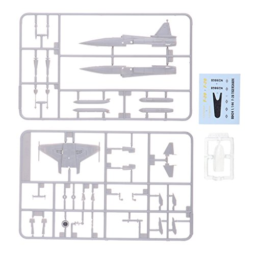 MagiDeal 1/144th Scale DIY Unassemble American F-20 Tigershark Fighter Airplane Model Toy from Unknown