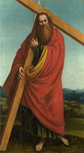 (Oil Painting 'Gaudenzio Ferrari - Saint Andrew,1530-46' Printing On High Quality Polyster Canvas , 18x33 Inch / 46x83 Cm ,the Best Nursery Decor And Home Decoration And Gifts Is This Vivid Art Decorative Prints On Canvas)