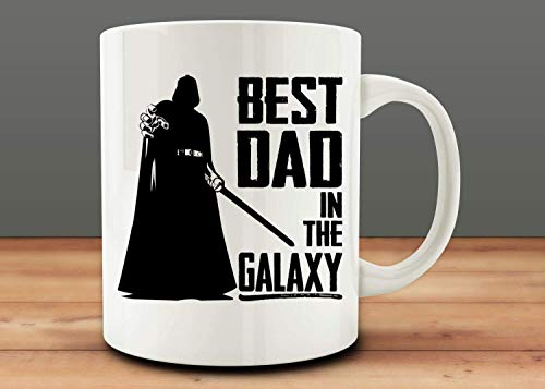 Oz Fan 11 White Mug - Stars War Darth Vader Best Dad In The Galaxy Coffee Mug - 11Oz White Gift For Fans Friends Lover Couple Parents Colleague In Christmas Birthday Valentine Halloween