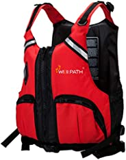 Adult Swim Vest, Kayaking Water Sports Swim Vest Fishing Vest with Easy Access Zippered Pockets for Fishing Sa