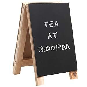 Mini 8 inch Tabletop Wooden Easel Blackboard / Chalkboard Sign Display / Erasable Message Memo Board - MyGift®
