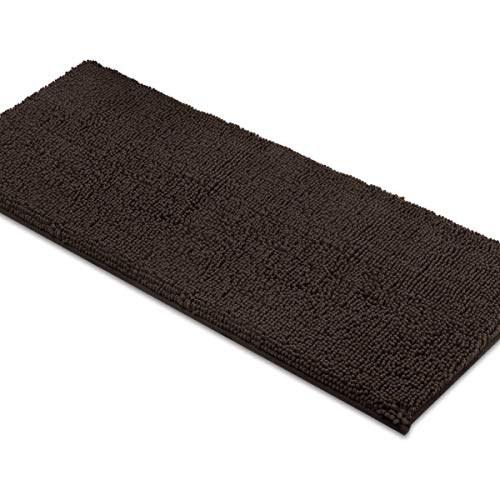 MAYSHINE Bath Mat Runners for Bathroom Rugs, Long Floor Mats, Extra Soft, Absorbent, Thickening Shaggy Microfiber, Machine-Washable, Perfect for Doormats,Tub, Shower (27.5X47 Inches Brown)