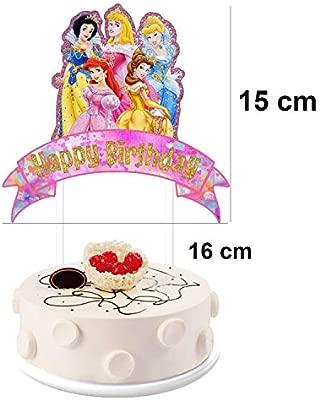Astounding 2 Pieces Disney Princess Cake Toppers Happy Birthday Cake Funny Birthday Cards Online Ioscodamsfinfo
