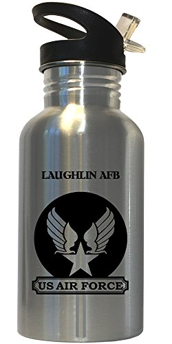 Laughlin AFB - US Air Force Stainless Steel Water Bottle Straw Top, - Images Laughlin