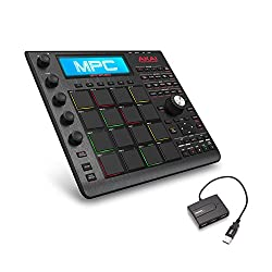 Akai Professional MPC Studio Black Music Production Controller with 7+GB Sound Library Download with AmazonBasics 4-Port USB