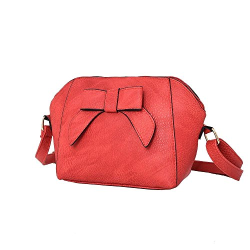 Adornment Bow Bag Red Diva Crossbody Beige for Women Haute fTqUSU