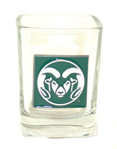 Pewter Logo Square 2 oz Shot Glass (Ncaa Colorado State Rams Glass)