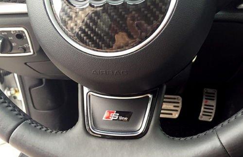 4 opinioni per Emblema adesivo Audi S Line, nero, per volante