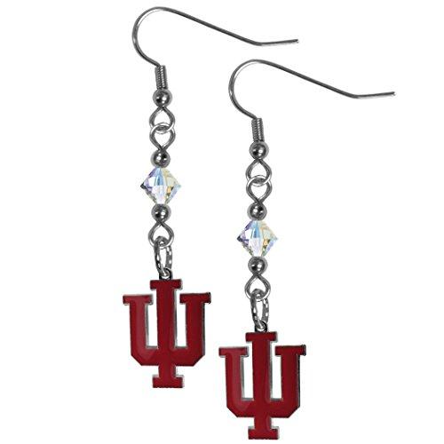 Siskiyou NCAA Indiana Hoosiers Crystal Dangle Earrings